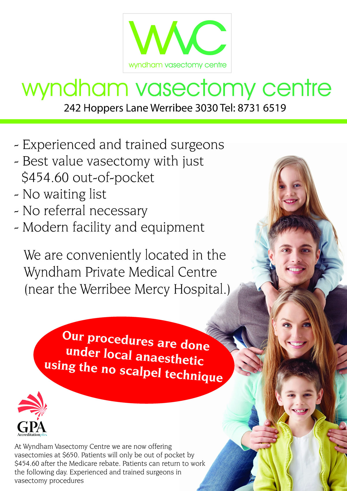 wyndham vasectomy centre